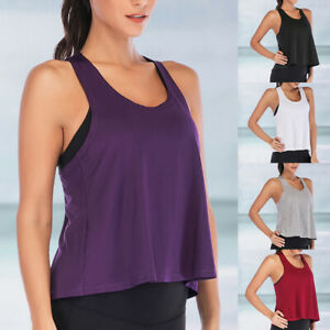 Mode-Femmes-Sports-Course-Fitness-Exercice-Jogging-Gym-Yoga-Vest-Debardeur