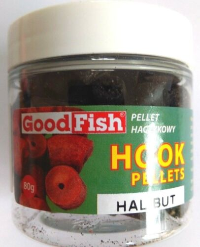 Pellets Hookbaits 80 g Crochet Appât HALIBUT avec Trou Crochet Pellets 2,06 euros//100 g