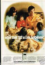 Publicité advertising 1977 Chauffe Eau Chaudière Leblanc