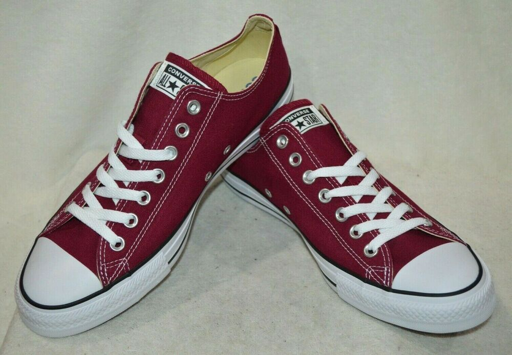 Converse Ct All Star Boeuf Marron Bordeaux Unisexe Sneakers-assorted Tailles Nwb