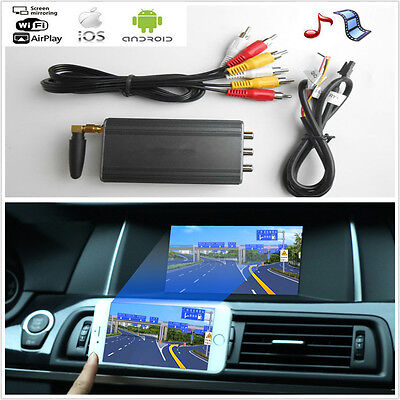Auto Car Miracast Airplay Android IOS WiFi Mirror Link Adapter Smartphone Screen