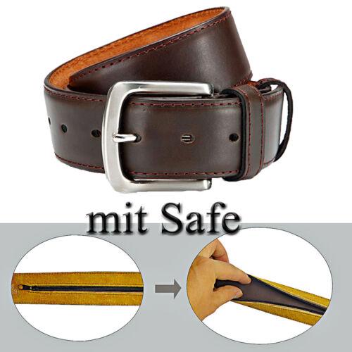 3 ceinture avec gürtelsafe 4 cm de large peuvent être raccourcies ceinture safegürtel avec cuir marron