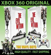 XBOX 360 STICKER THE EVIL WITHIN HORROR 001 SURVIVAL SKIN & 2 PAD SKINS