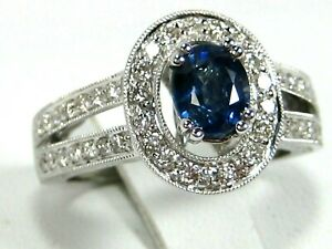 Blue-Sapphire-Ring-Antique-Halo-GIA-certified-14K-white-gold-Rare-Heirloom-4-48