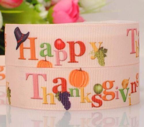 "BTY 7//8/"" Thanksgiving Holiday Grosgrain Ribbon Hair Bow Lisa"