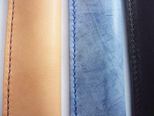 Handmade custom made Genuine leather cowhide pen case pencil bag holder