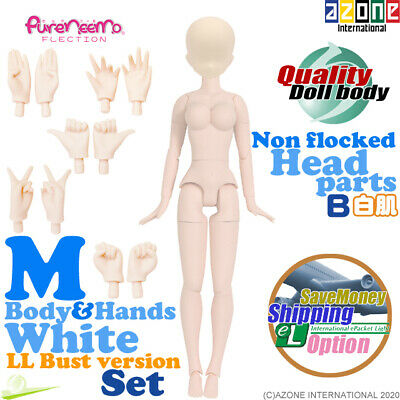 AZONE Pure Neemo FLECTION M LL Bust White Body A Hands /& Flocked Head Blue Doll