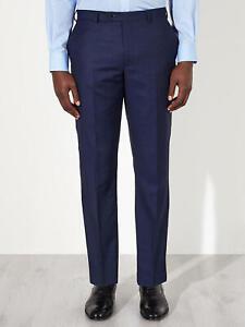 """Super 100s Wool Birdseye Tailored Trousers 31l Mit Den Modernsten GeräTen Und Techniken Blue W30 Or 38"""" GüNstiger Verkauf John Lewis"""
