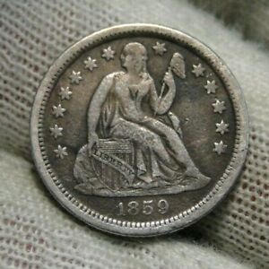 1859 O Seated Liberty Dime 10C  - Nice Coin, Key Date 480,000 Minted (101)