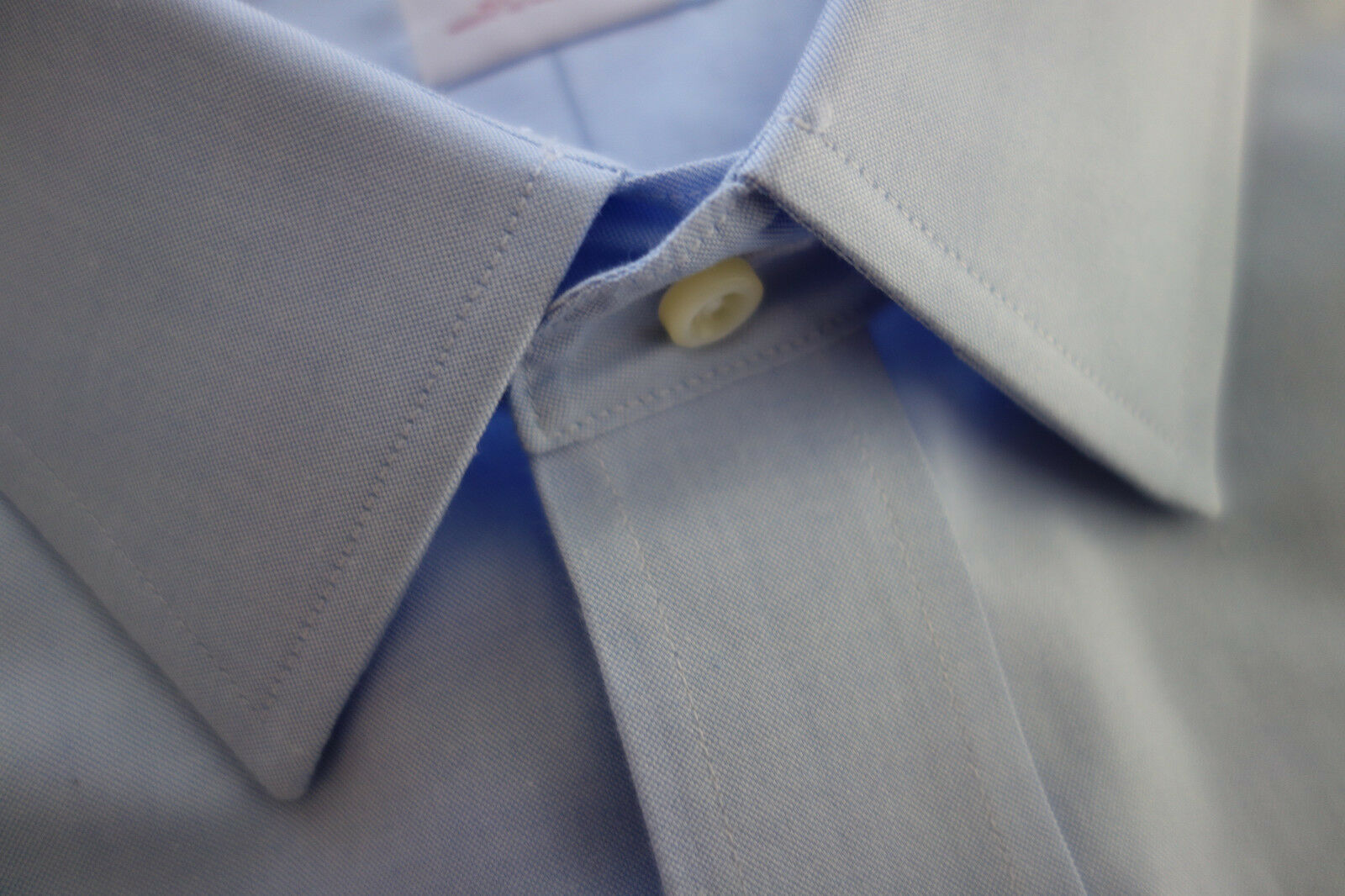 NWT Brooks Bredhers Non Iron bluee Point Collar Shirt 19-32.5  MSRP