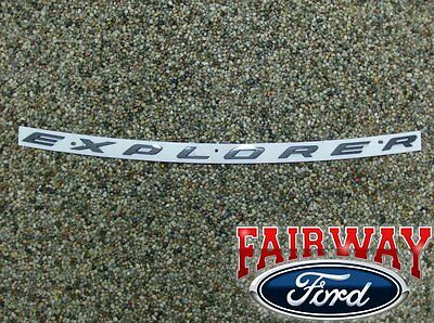 Black Sporty Matte Silver New ABS Hood Emblem Letters Explorer Sticker Fit Ford 2011-2017