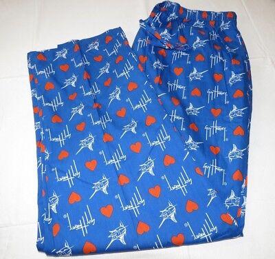 Herren Guy Harvey Love Hose Königsblau Schlaf Schlafanzughose Logo Freizeit 2xl