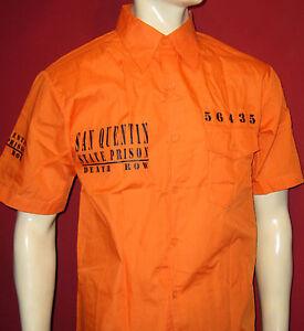 San-Quintin-camisa-naranja-state-prison-Brake-Death-Row-M-L-XL-2xl-3xl-camisa-de-verano
