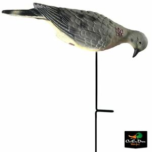 NEW-LUCKY-DUCK-FOURPACK-O-FEEDERS-FEEDING-MOURNING-DOVE-DECOYS-W-STAKES-24-PACK