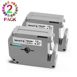 2PK-Replacement-for-Brother-P-Touch-M-Series-Label-Tape-M231-MK231-M-K231-12mm