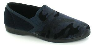 MENS CAMAFLAUGE PATTERN SLIPPERS 'X2011' NAVY