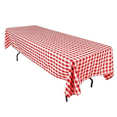 Checked Polyester Tablecloth Assorted Colors Sizes