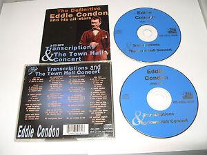 Eddie-Condon-Transcription-amp-Town-Hall-Concert-Live-Recording-1996-2-cd-Ex