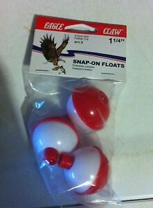 Soft Plastics Sporting Goods Fishing Sup Eagle Claw 3/4  Red/White Floating Dobber