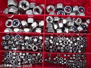 180 Pièces Acier Inox Boîte Ecrous de Fixation M2-5 M3 M4 M5 M6 M8 M10 M12 Din