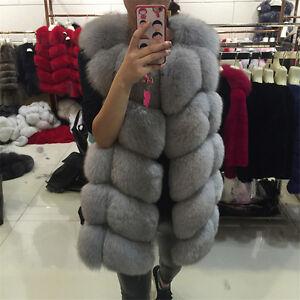 Renard Femme Gilet Fourrure Luxueux Manteau Veste 2017 Hiver 100 fz0Ox6q