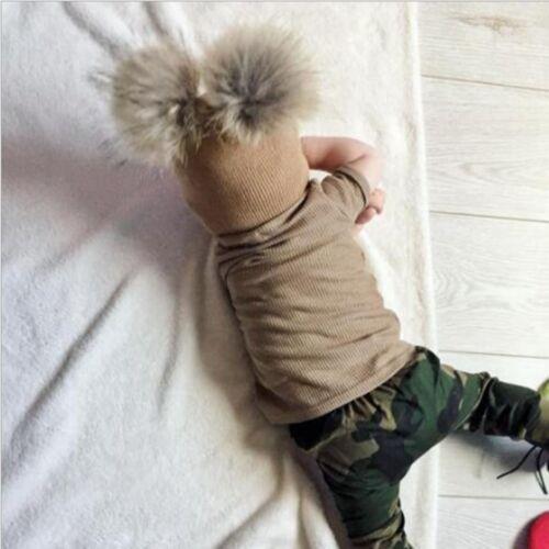 Children Kids Baby Hats Newborn With Pom Pom Warm Winter Wool Knit Beanie Caps