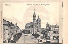 B8467 Poland Krakov Rynek z Kosciolem N Panny Maryi 1900