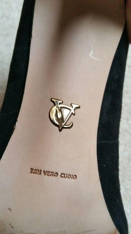 Vero Gr. Cuoio High Heel * Gr. Vero 38 * Schwarz * Gold * Wildleder f51db0