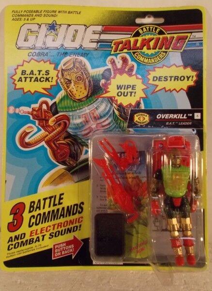G.I. Joe Overkill B.A.T.S. Electronic Talking Battle Commanders (MOC) GI Hasbro