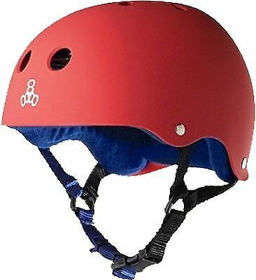 Triple  8 Helmet Red Rubber bluee S  save 35% - 70% off