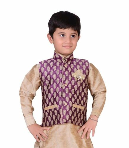 Boys Indian Pakistani kids sherwani Waistcoat jacket Kurta salwar For EID 873 UK