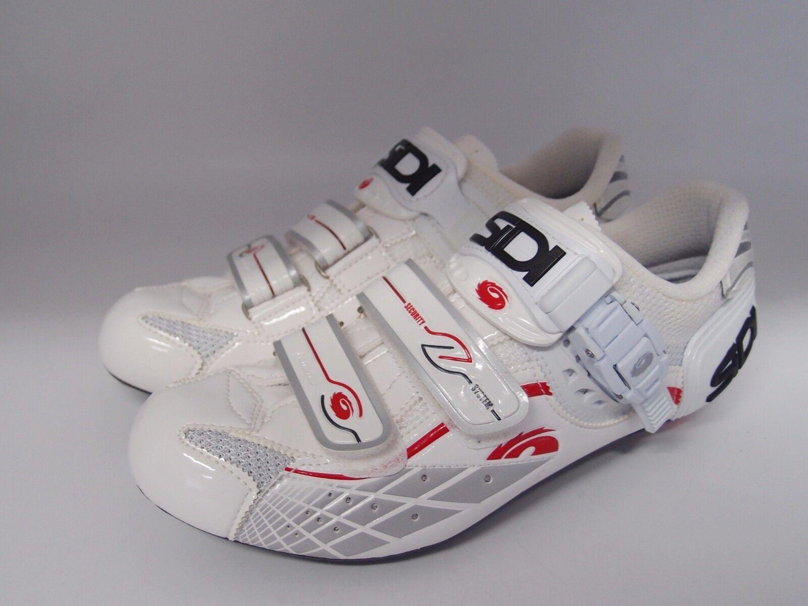 SIDI láser VERNICE blancooO road cycling zapatos EUR 40.5 US 7.25 cm 25.25