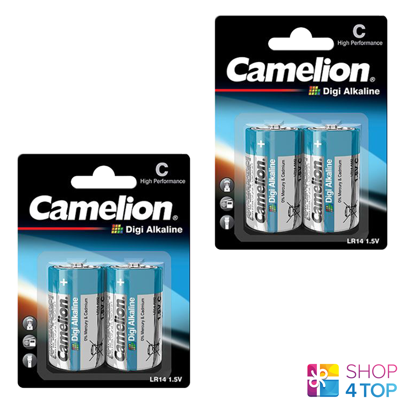 4 camelion c alkaline batteries digi lr14 am2 mn1400 e93 1.5v 2bl exp 2026 new