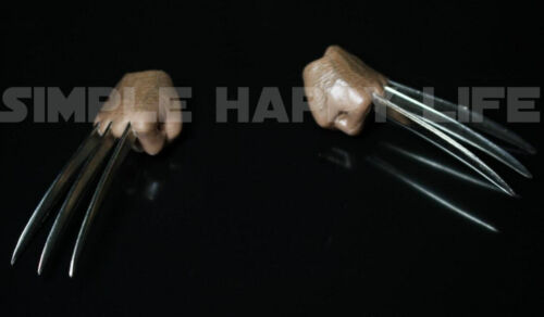 ❶IN STOCK❶ 1//6 Wolverine metal claw hands realistic hair fist Steel talons ❶USA❶