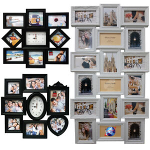 MODERN-LARGE-MULTI-PHOTO-PICTURE-CLOCK-FRAME-LOVE-FAMILY-FRIENDS-HOME-WALL-MOUNT