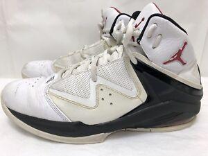 59996bf404d Mens NIKE AIR JORDAN 414759-101 PURE J White Leather Basketball ...