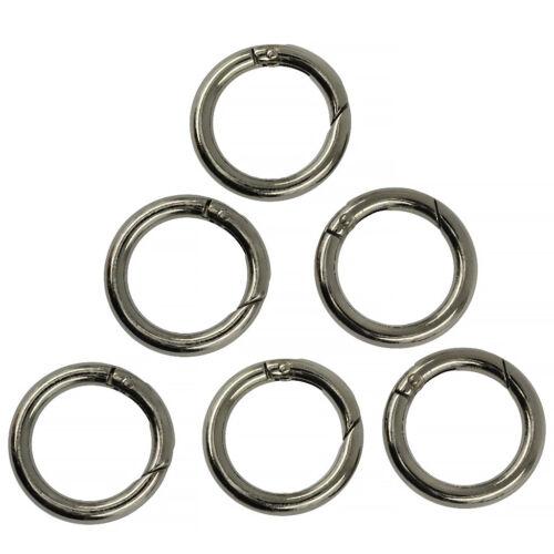 Black Golden 12pcs Runde Frühling Karabinerhaken Clip Key Handtasche