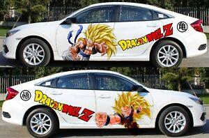 Dragon Ball Goku Vegeta Anime Car Body Door Vinyl Decal Sticker fit any auto