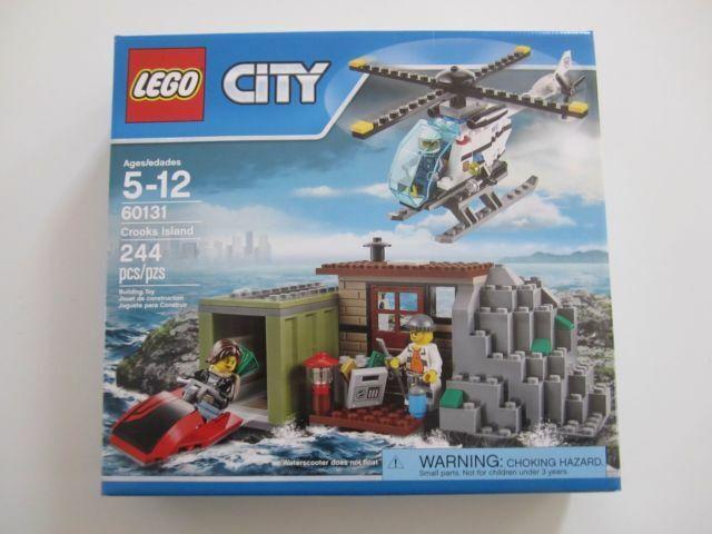 Building Toys Kit Retired LEGO City 60131 Crooks Island Set Brand New