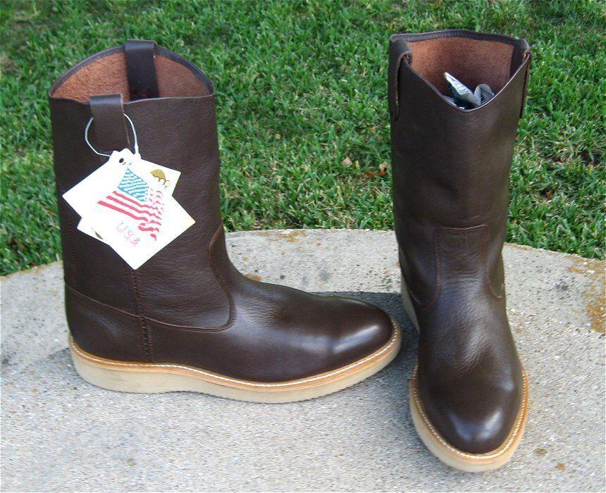 Nuevo Brahma suave del dedo del pie botas de vaquero para hombre 10.5D