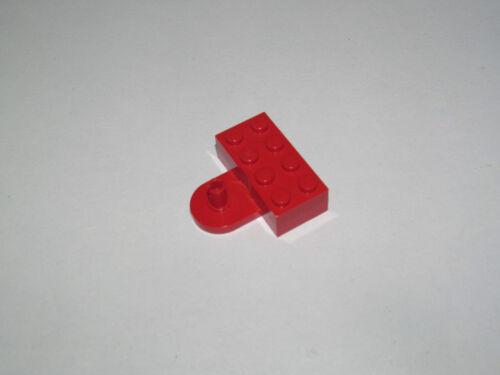 Lego ® Brique Modifiée Rouge Crochet Attelage 2x4 Red Brick Modified ref 4747