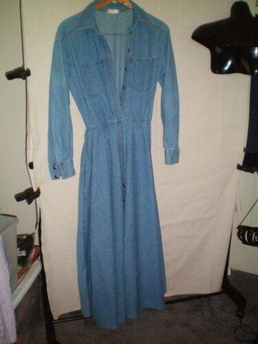 Vintage Bonnie Strauss Button Down Denim Belted M