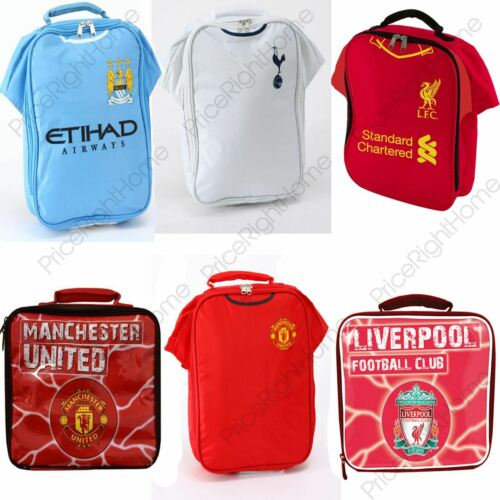 FOOTBALL TEAM LUNCH BAGS KIDS SCHOOL LUNCH PICNIC VARIOUS TEAMS 100/% OFFICIAL