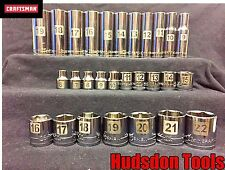 Craftsman 28 pc 3/8 Easy to Read Metric Socket Set STD and Deep. 6PT