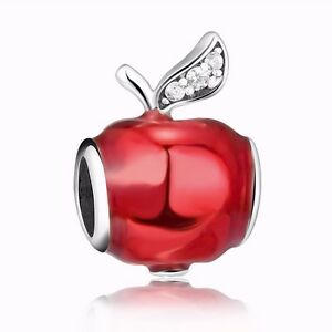 9f7092b16 European 925 Silver Charms Red Apple Bead Fit Sterling Bracelets ...