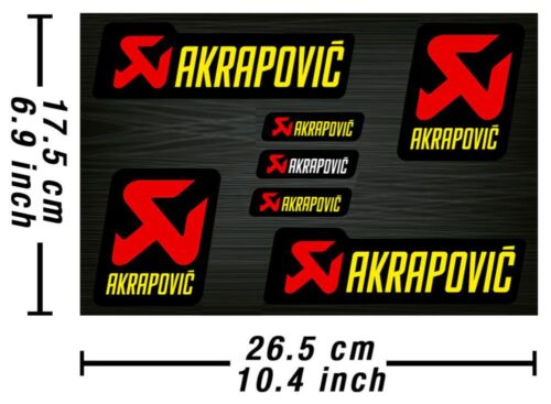 Akrapovic Decals Stickers Exhaust Graphics Set Autocollant Aufkleber Adesivi