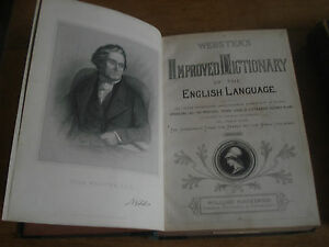 Webster039s Improved Dictionary of the English Language 2 VOLUMES CIRCA 1860 - london, London, United Kingdom - Webster039s Improved Dictionary of the English Language 2 VOLUMES CIRCA 1860 - london, London, United Kingdom