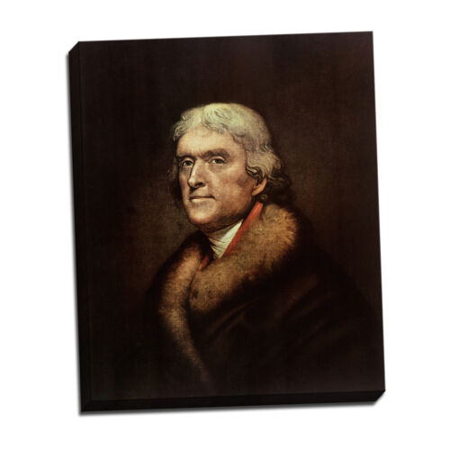 "Rembrandt Peale Thomas Jefferson Framed Canvas Giclee Print 23/""x27/"" V13-44"