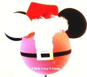 2864be25b182a Image is loading Disney-CHRISTMAS-BALL-Antenna-Topper-MICKEY-SANTA-EARS-