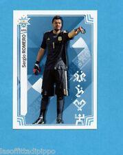 COPA AMERICA 2015 CHILE-Figurina n.334- ROMERO - ARGENTINA -NEW-BLACK BACK